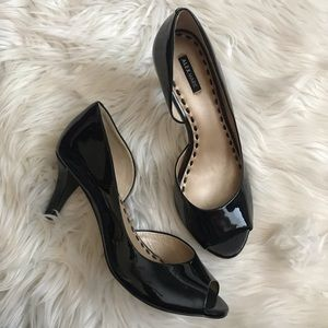 Alex Marie Patent Leather Peep Toe Pumps